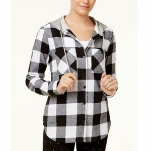 Prolly & Esther plaid shirt with hood